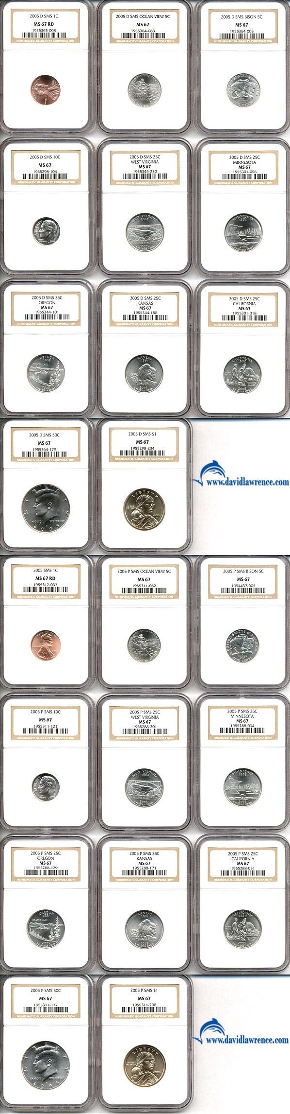 sample image for 2005-S Proof Set 1c-$1 PR DCAM 11 Coins