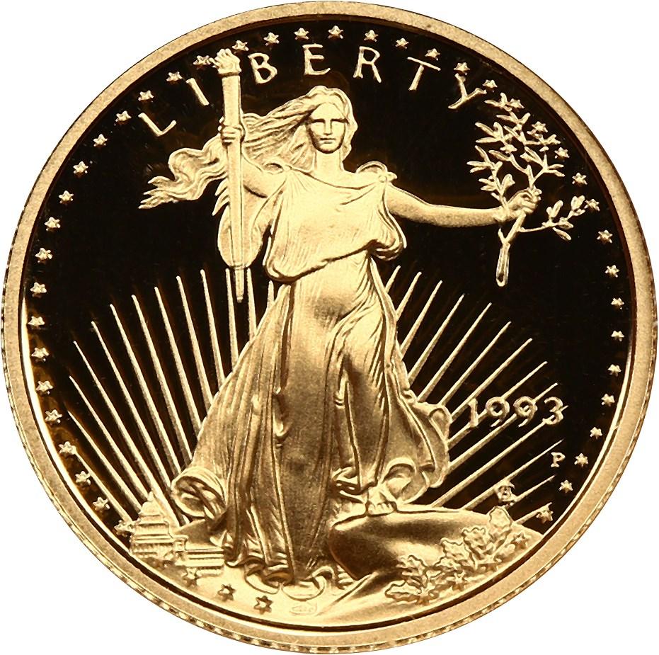 sample image for 1993-P Gold Eagle $5  PR DCAM