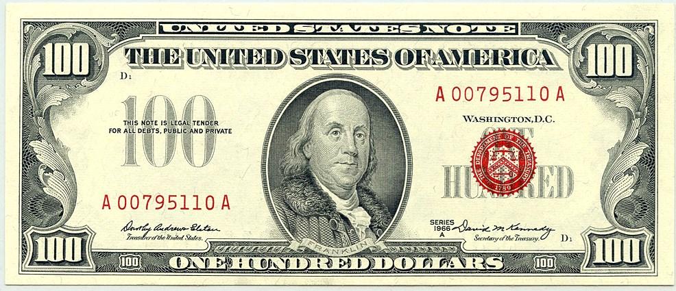 sample image for 1966A $100  (Fr.# 1551)