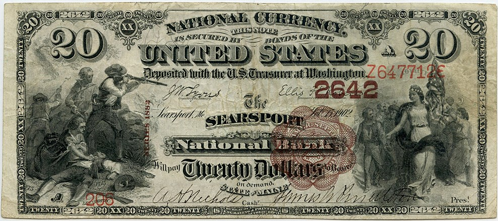 sample image for 1882 2nd Charter Period $20  Brown Back 1st Issue (Fr.# 504)