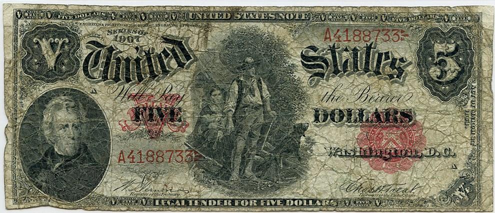 sample image for 1907 $5  (Fr.# 83)