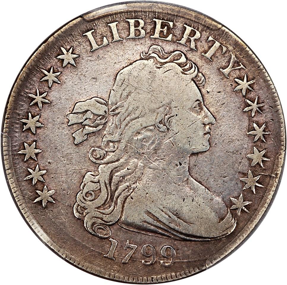 sample image for 1799 $1  MS Irregular Date, 15 Stars