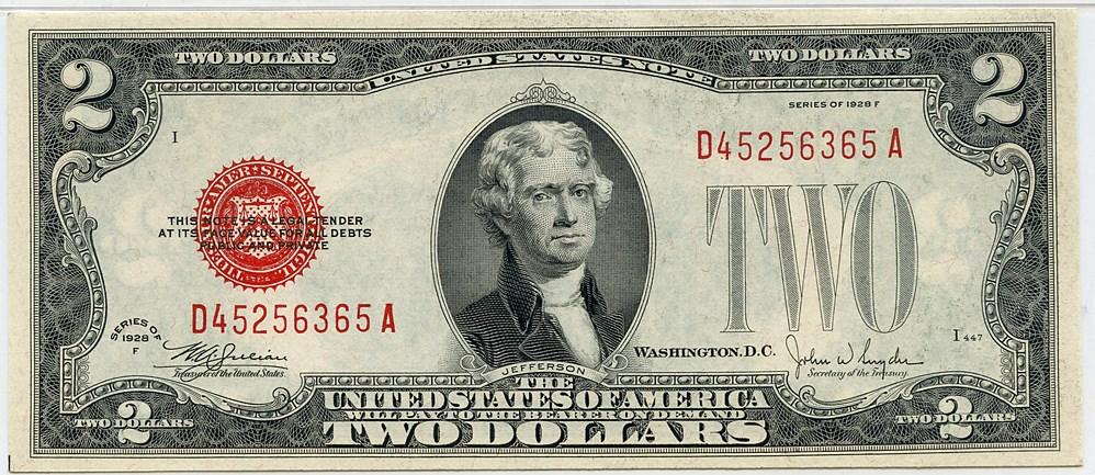 sample image for 1928F $2  (Fr.# 1507)