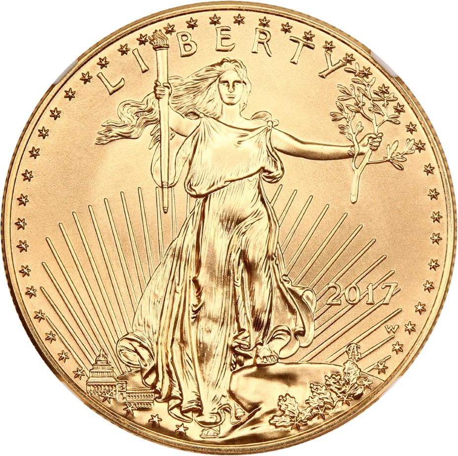 sample image for 2018-W Gold Eagle $50  SP Burnished