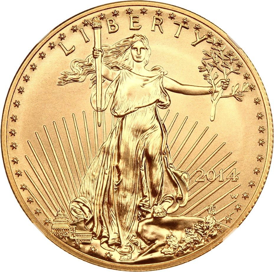 sample image for 2014-W Gold Eagle $50  SP Burnished