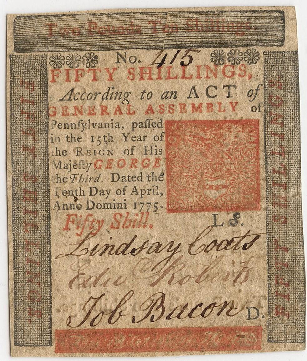 sample image for 1775 10-Apr 50s (Fr.# PA175)