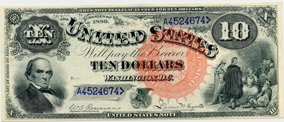 sample image for 1880 $10  (Fr.# 106)