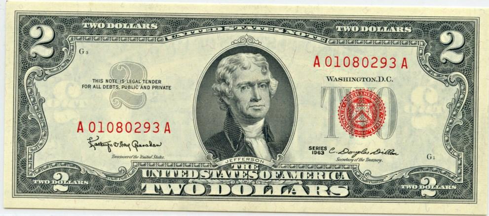 sample image for 1963 $2  (Fr.# 1513)