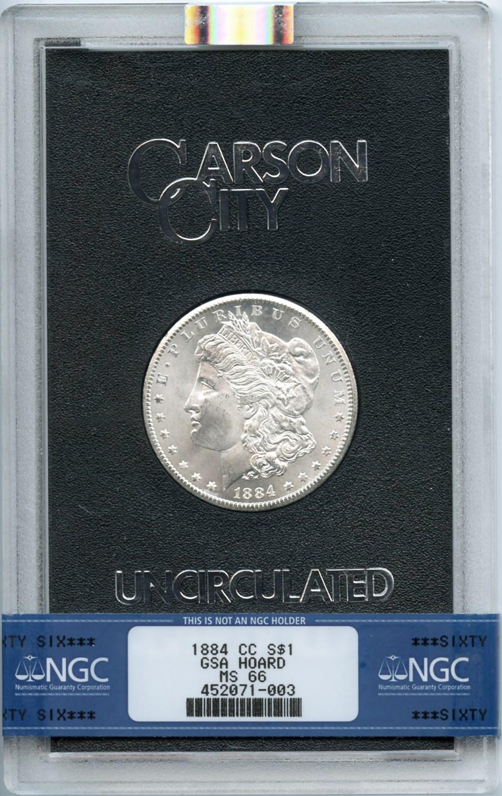 sample image for 1884-CC $1  MS GSA Hoard