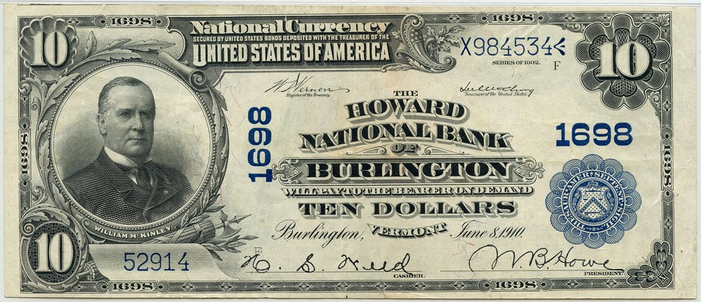sample image for 1902 3rd Charter Period $10  Plain Back 3rd Issue (Fr.# 627)