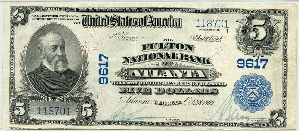 sample image for 1902 3rd Charter Period $5  Plain Back 3rd Issue (Fr.# 600)