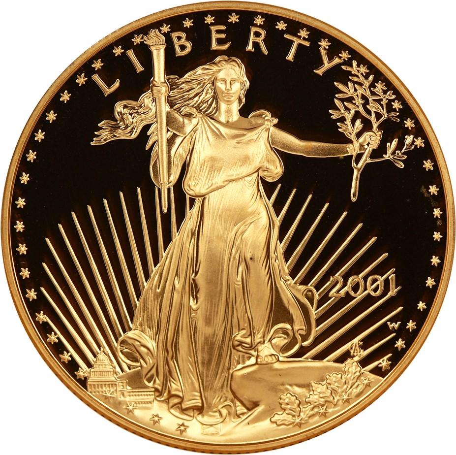 sample image for 2001-W Gold Eagle $50  PR DCAM