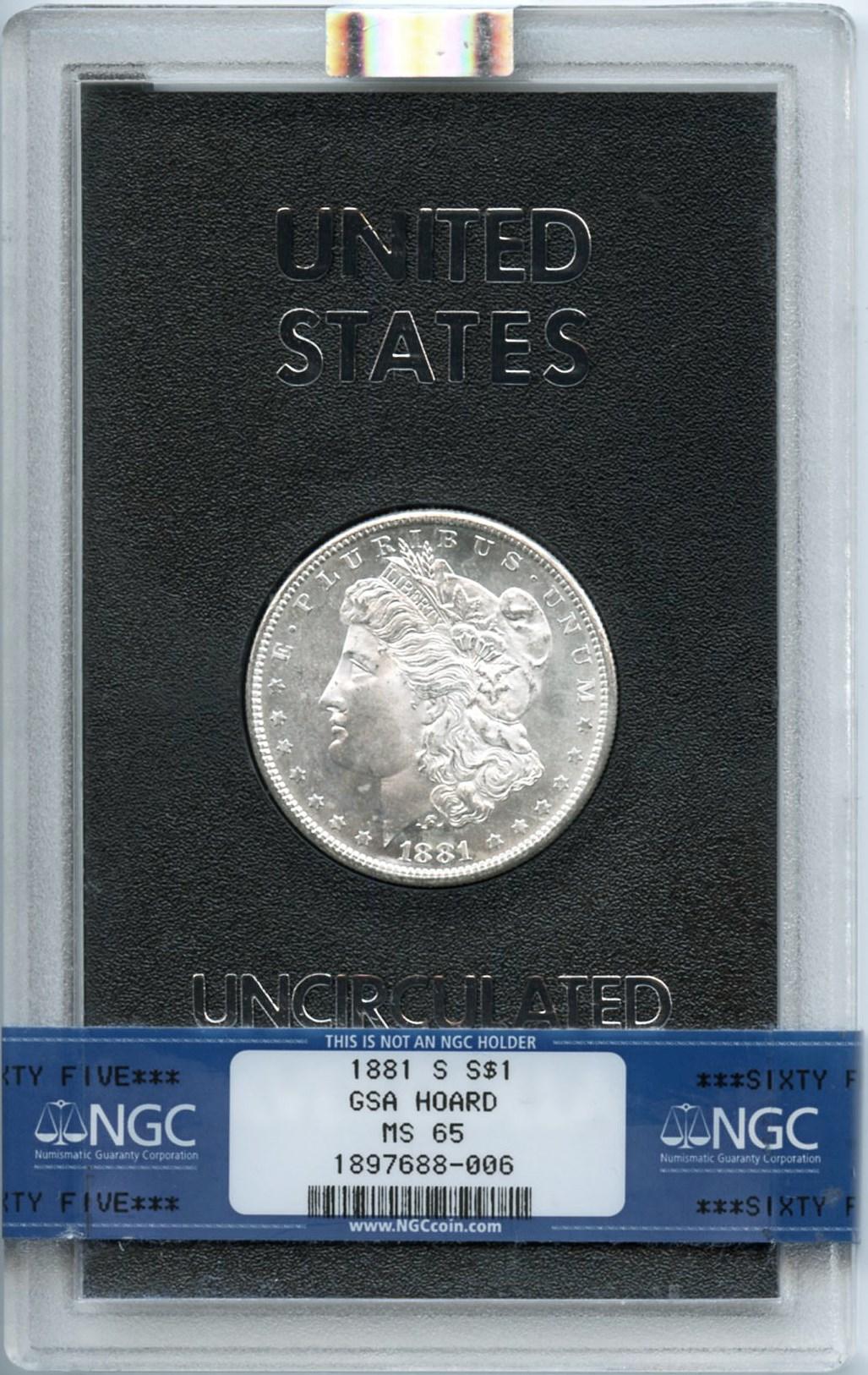 sample image for 1881-S $1  MS GSA Hoard