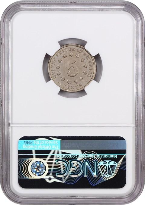 Au Nickel 5c Au 1872 Details Shield Shield Cleaned Ngc