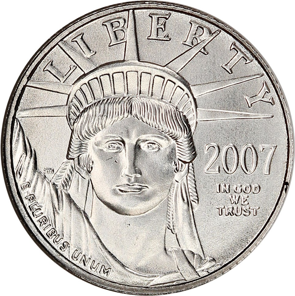 sample image for 2007 Platinum Eagle $10  MS