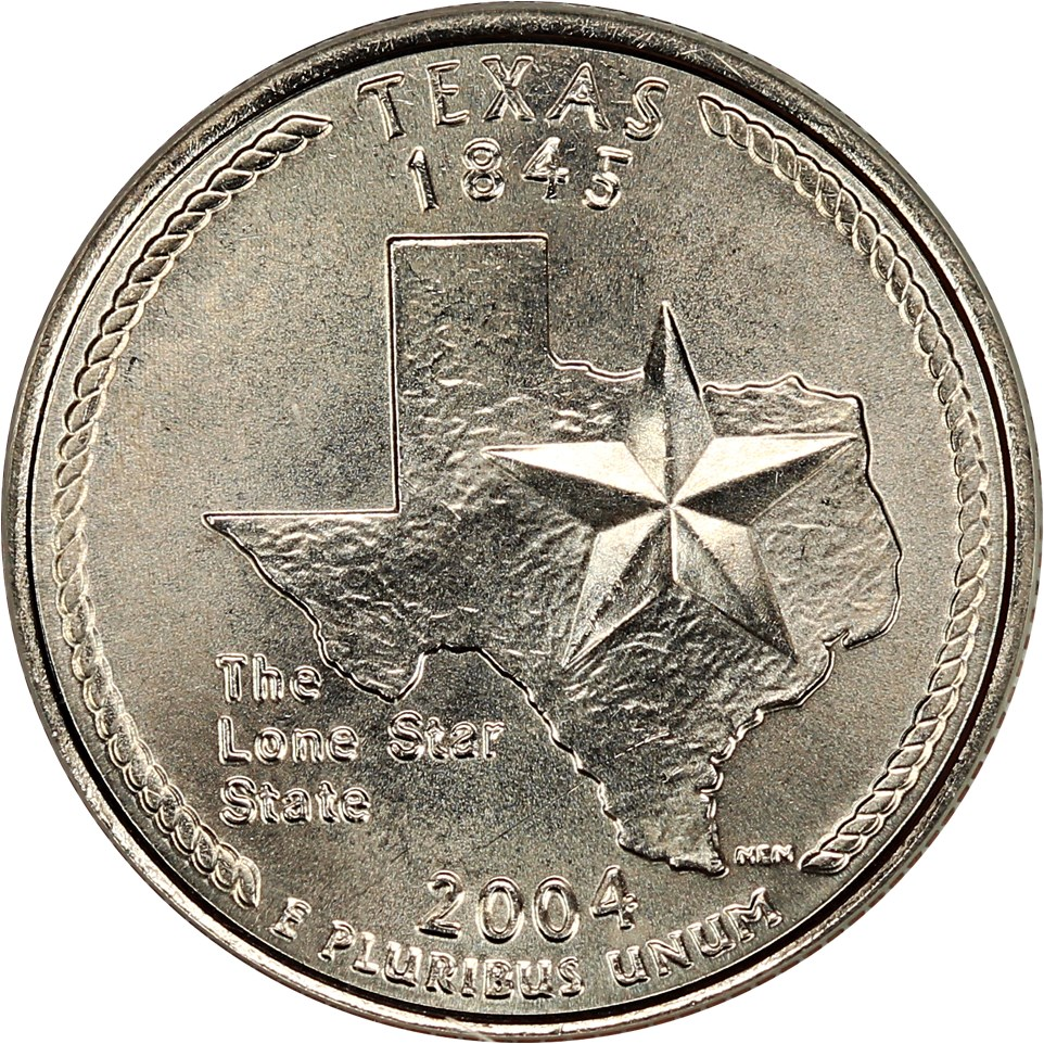 sample image for 2004-D Texas 25c MS