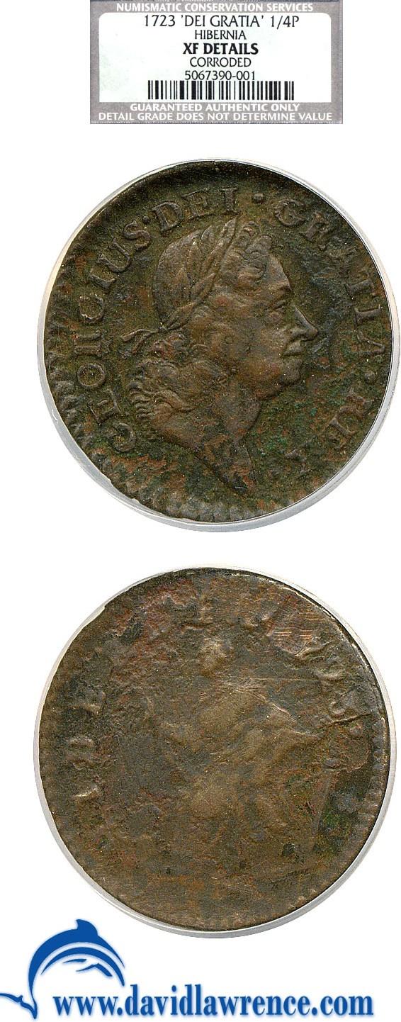 sample image for 1723 Hibernia Far, DEI.GRATIA RB