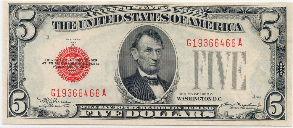 sample image for 1928C $5  (Fr.# 1528)