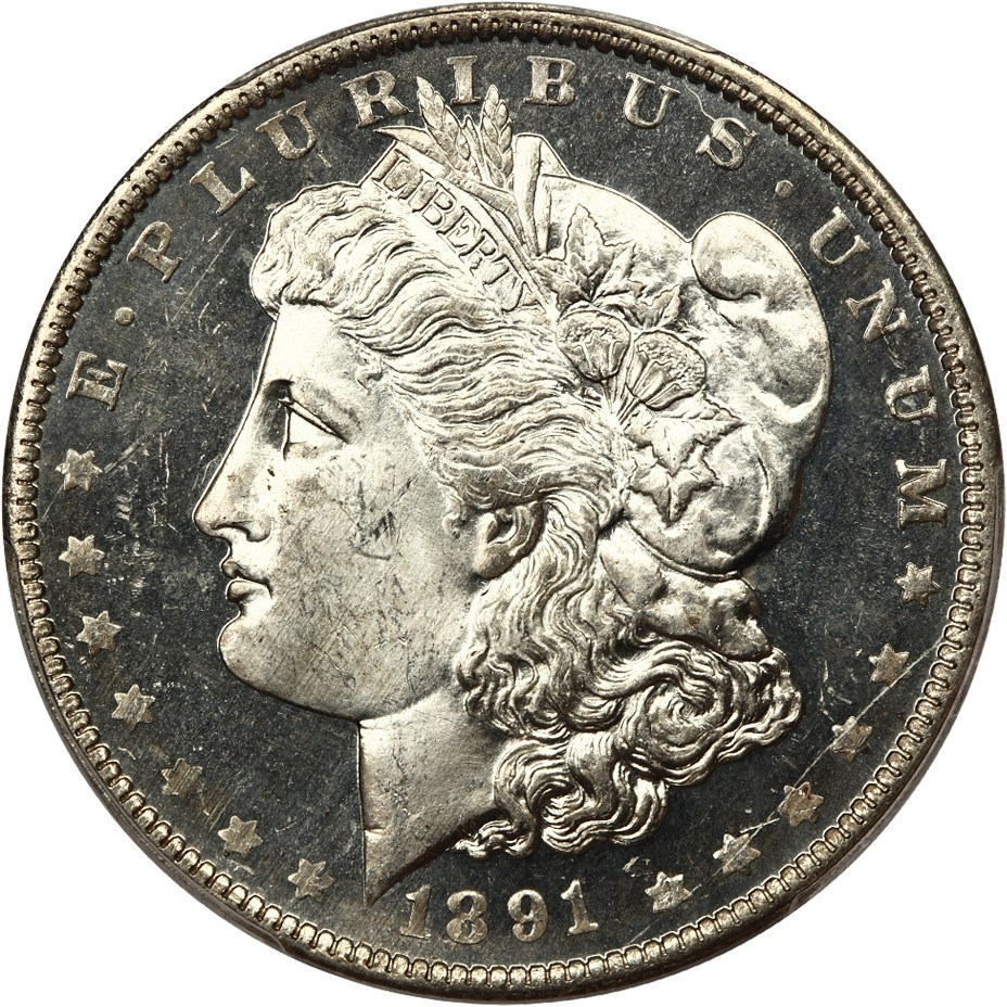 sample image for 1891-O $1  MS DMPL
