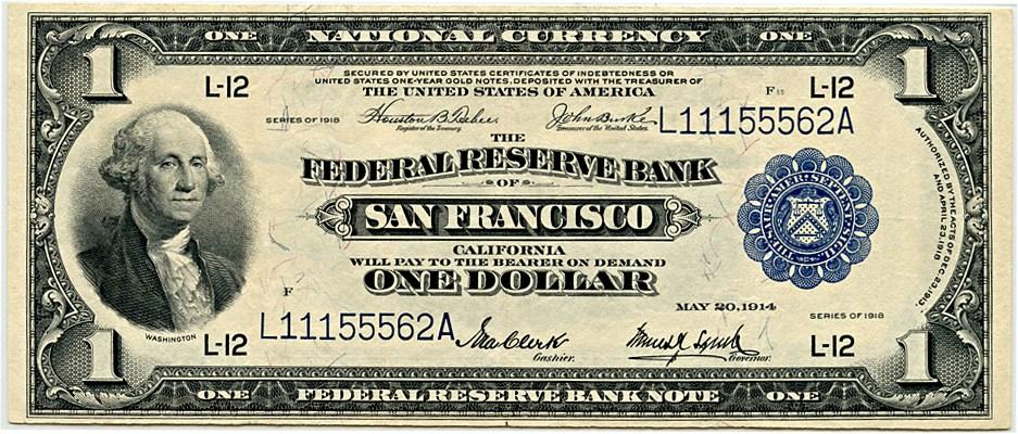 sample image for 1918 $1  San Francisco (Fr.# 743)