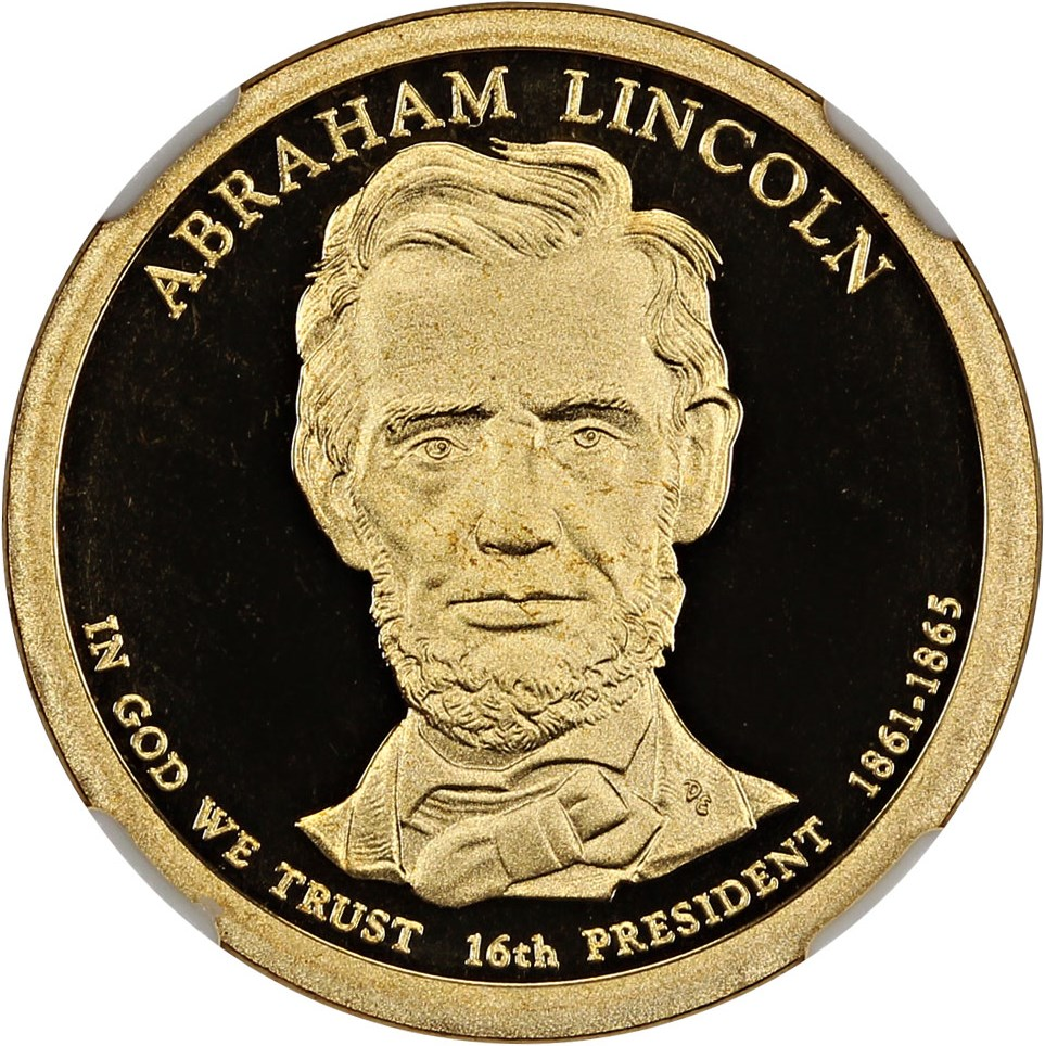 sample image for 2010-S Abraham Lincoln $1  PR DCAM