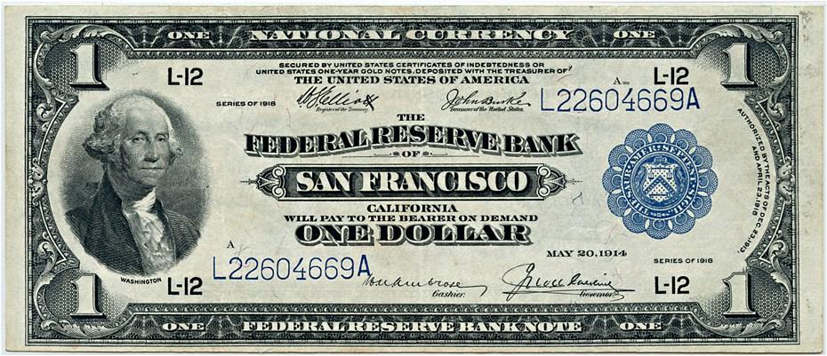 sample image for 1918 $1  San Francisco (Fr.# 746)