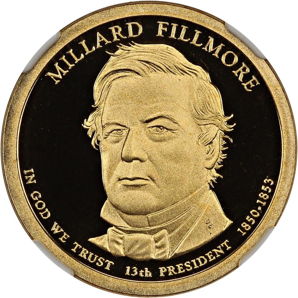 sample image for 2010-S Millard Fillmore $1  PR DCAM
