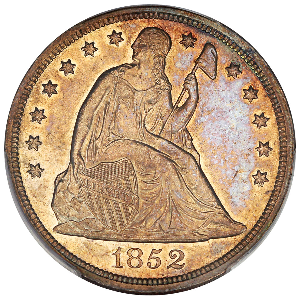 sample image for 1852 $1  MS