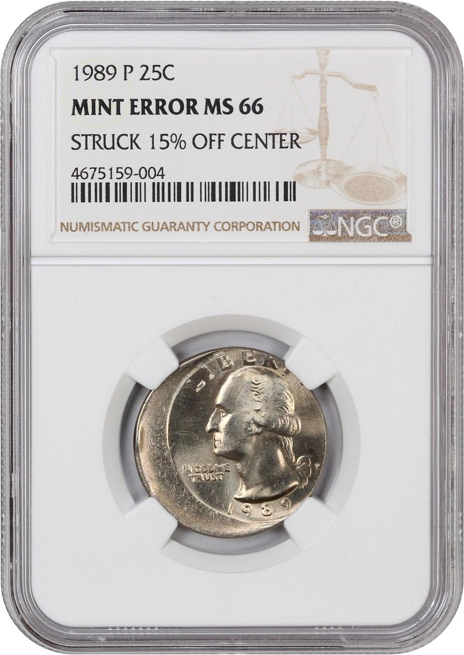 NGC Certified MS 66 1996 P Washington 25c