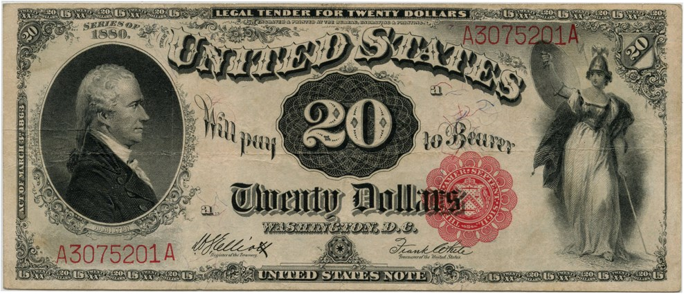 sample image for 1880 $20  (Fr.# 147)