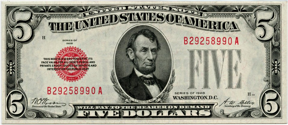 sample image for 1928 $5  (Fr.# 1525)