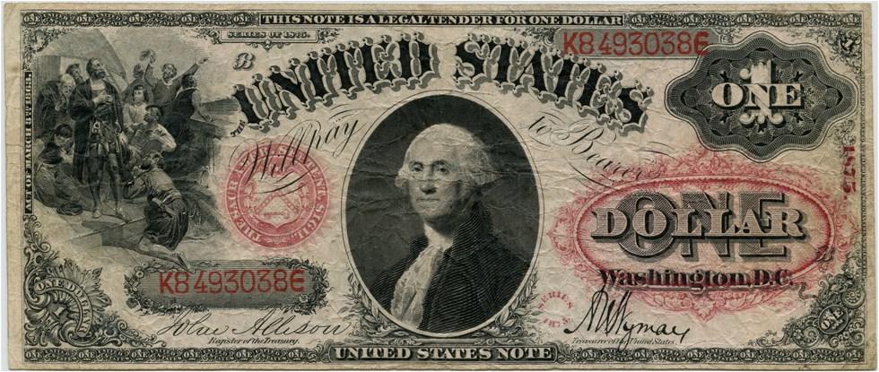sample image for 1875 $1  (Fr.# 26)