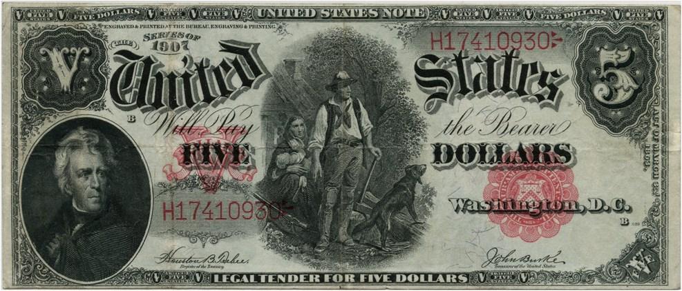 sample image for 1907 $5  (Fr.# 88)
