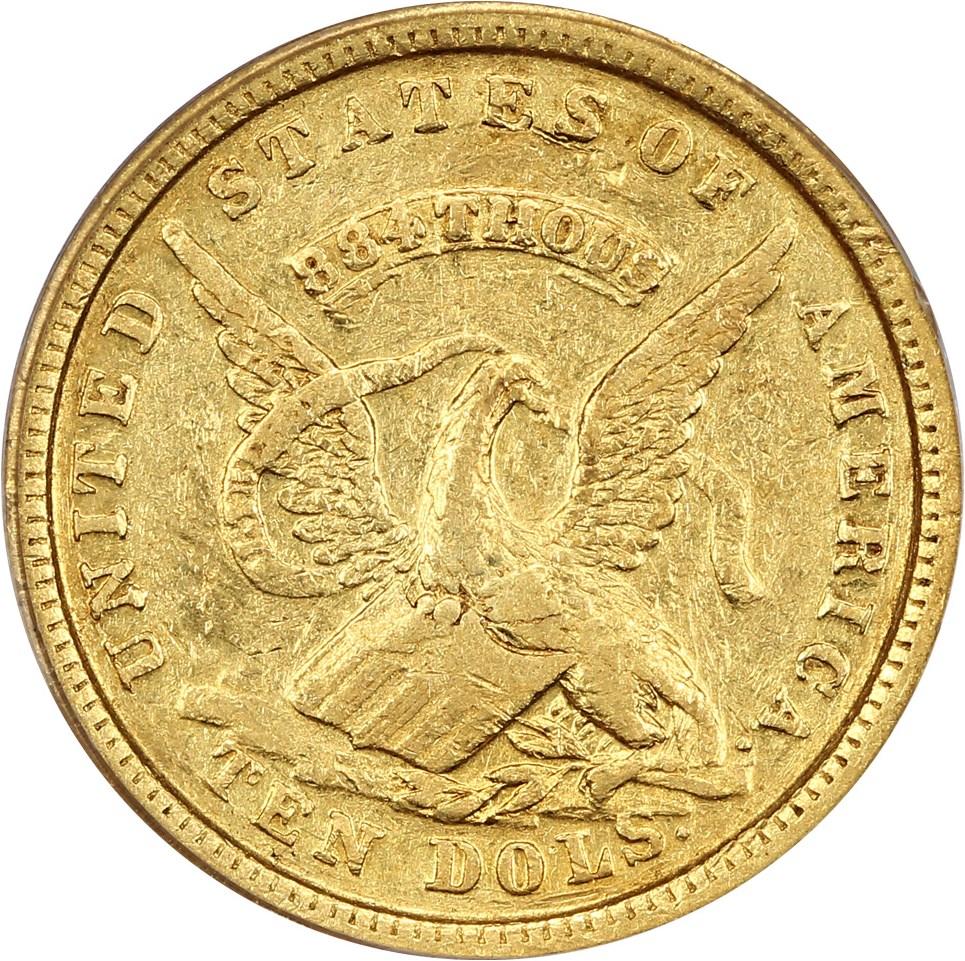 sample image for 1852 $10 Assay 884