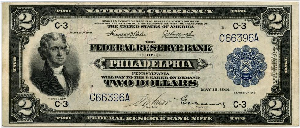 sample image for 1918 $2  Philadelphia (Fr.# 753)