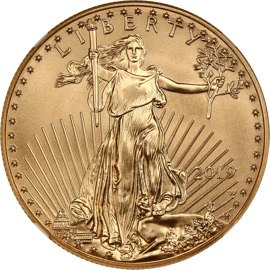 sample image for 2019 Gold Eagle $50  MS