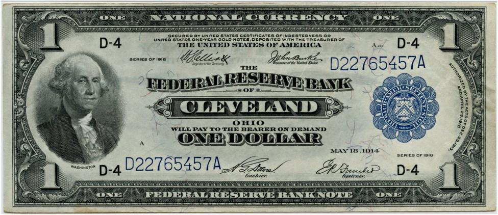 sample image for 1918 $1  Cleveland (Fr.# 720)