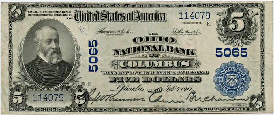 sample image for 1902 3rd Charter Period $5  Plain Back 3rd Issue (Fr.# 606)