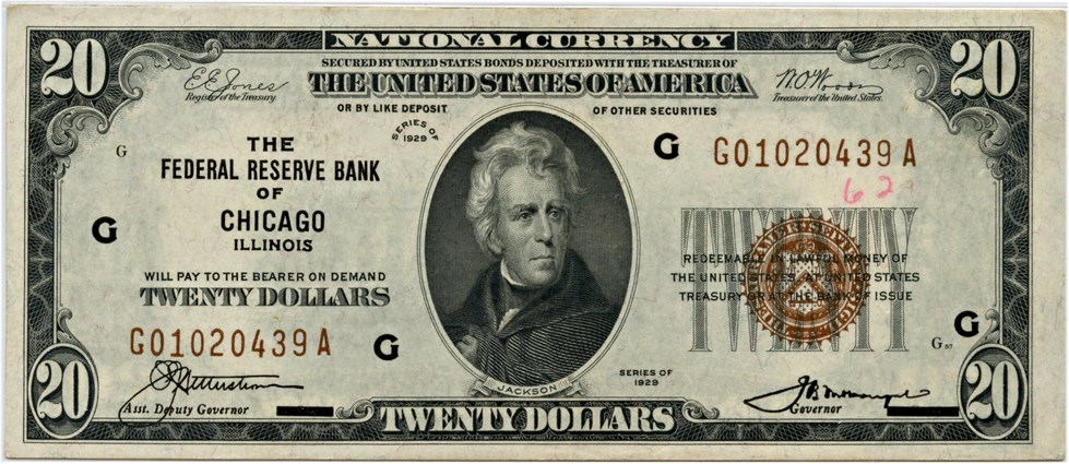 sample image for 1929 $20  Chicago (Fr.# 1870G)