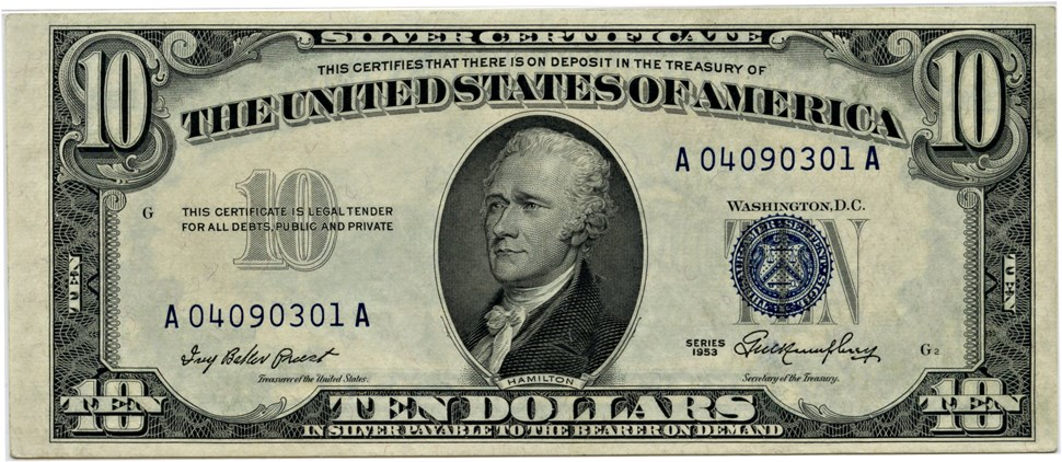 sample image for 1953 $10  (Fr.# 1706)