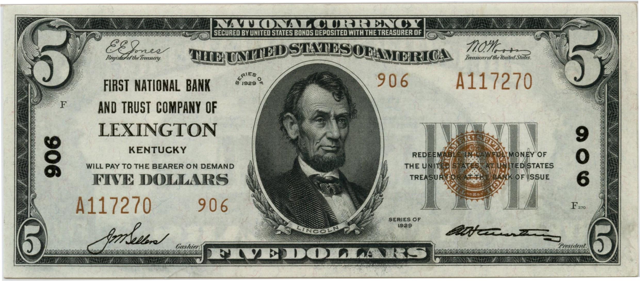 sample image for Fr.1800-2 $5 1929