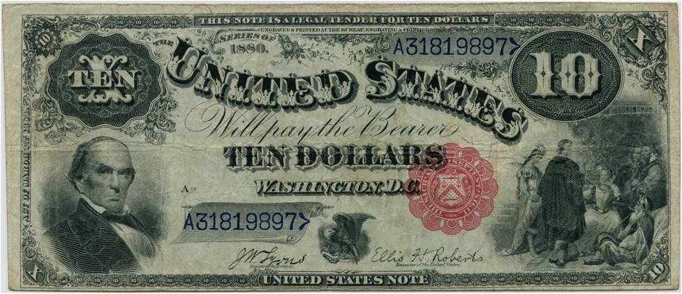 sample image for 1880 $10  (Fr.# 113)