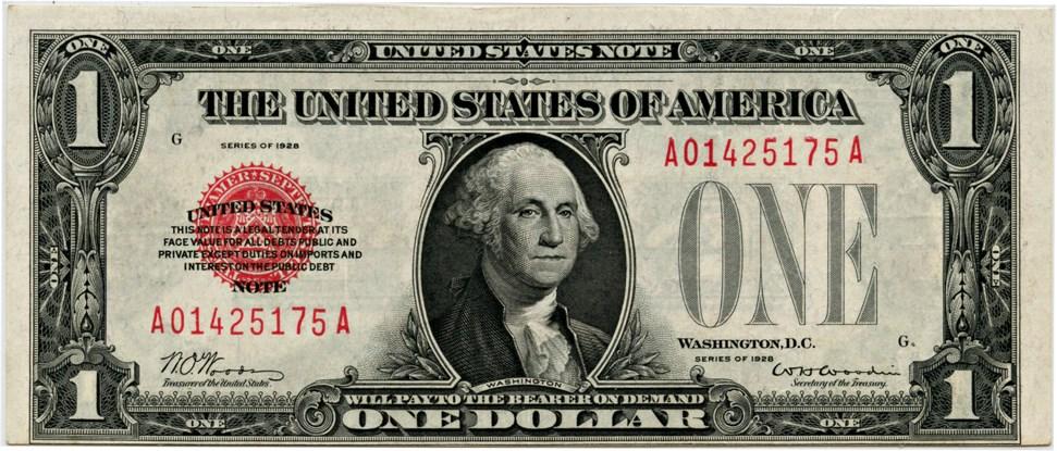 sample image for 1928 $1  (Fr.# 1500)