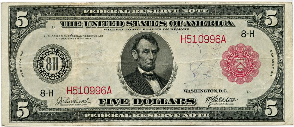 sample image for Fr.839A $5 St.L RS
