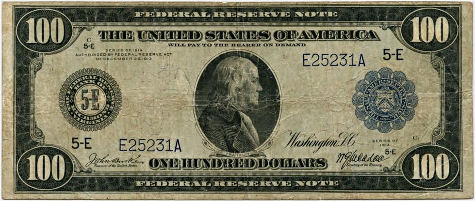sample image for Fr.1100 $100 Richmond