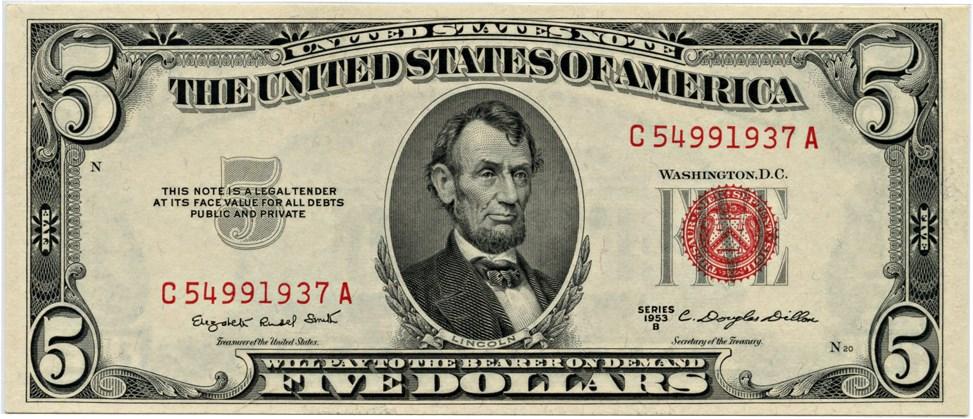 sample image for 1953B $5  (Fr.# 1534)