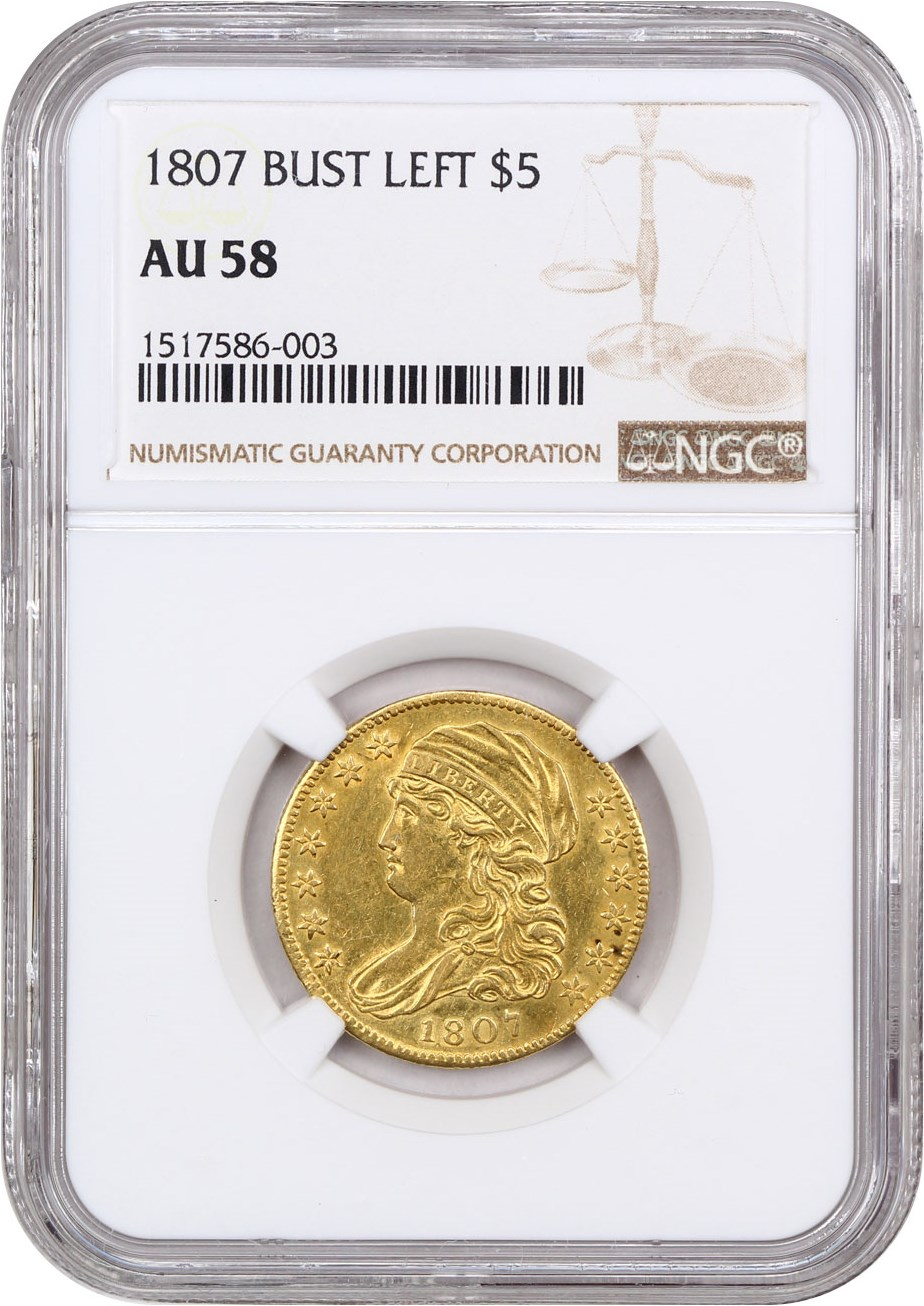1800 Half Eagle $5 Early US Gold Coin NGC MS-61 Beautiful UNC Example