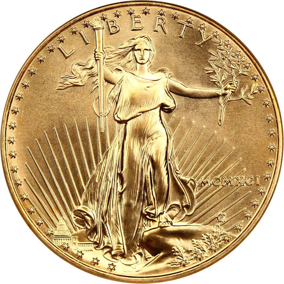 sample image for 1991 Gold Eagle $50  MS