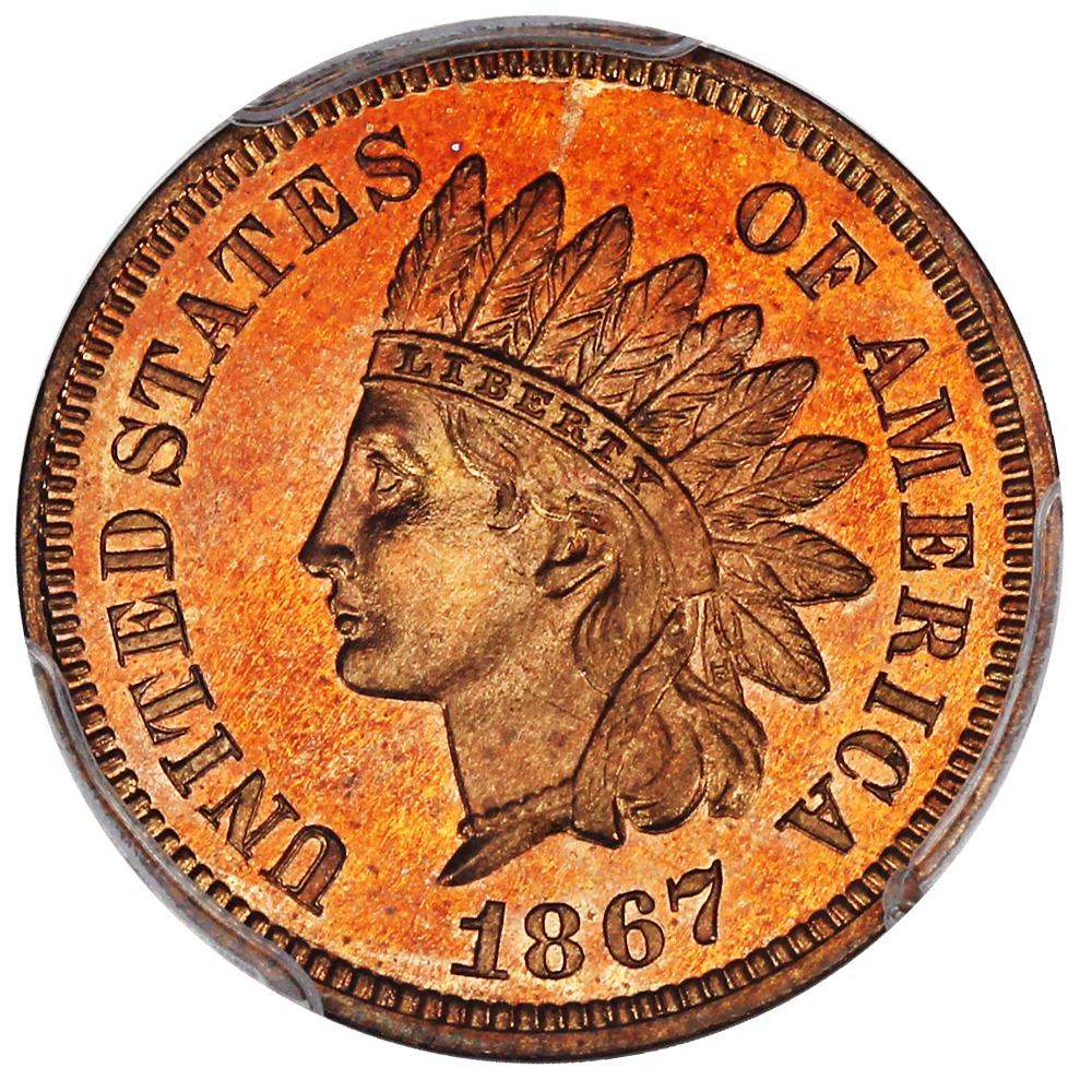 sample image for 1867 1c PR RD