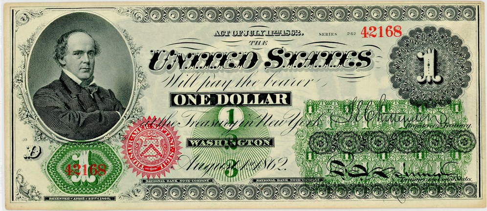 sample image for 1862 $1  No Patent Date Seal Type 2 (Fr.# 16c)